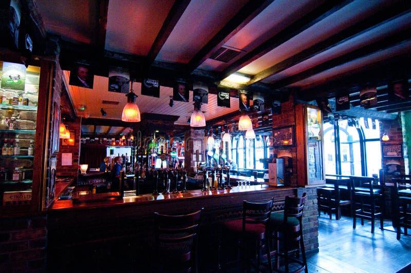 Tradycyjny irlandzki piwny pub w Tampere, Finlandia zdjęcia stock