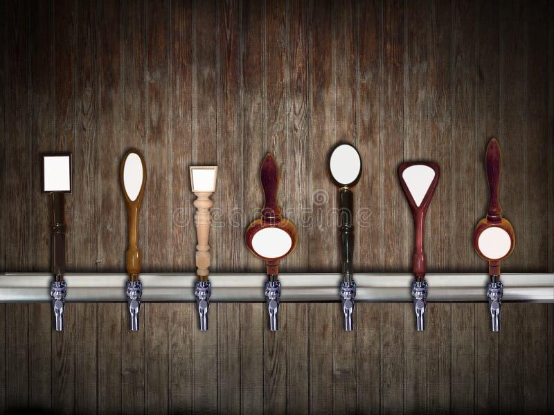 Rubinetti della birra fotografia stock
