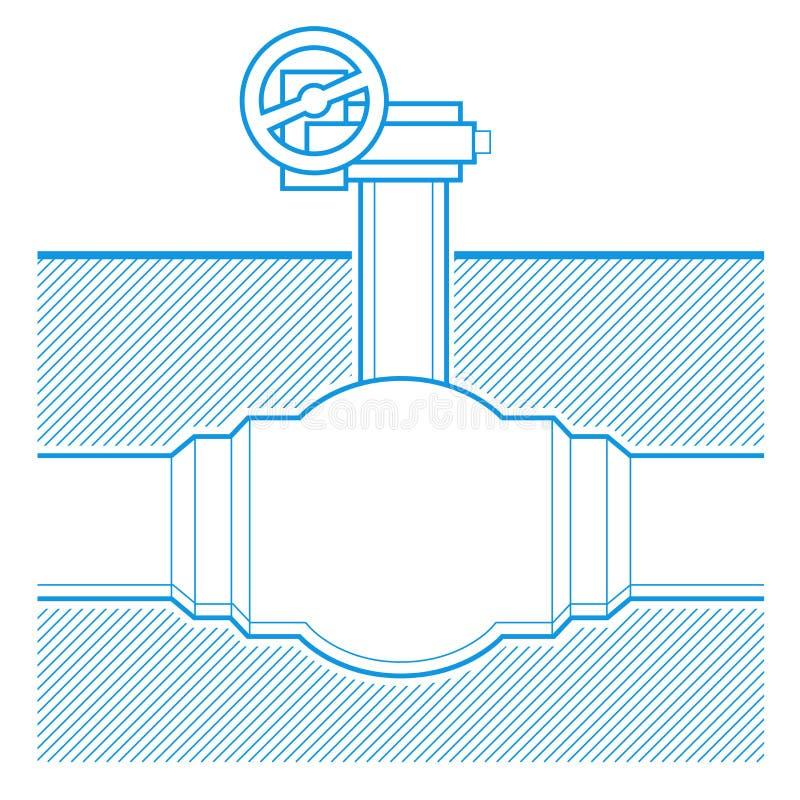 Rubinetto industriale illustrazione di stock