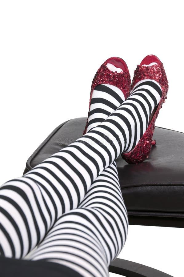 Rubinowi buty zdjęcie royalty free
