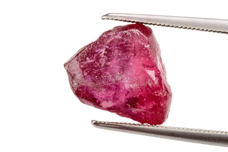 Rubinowy kryształ zdjęcie stock