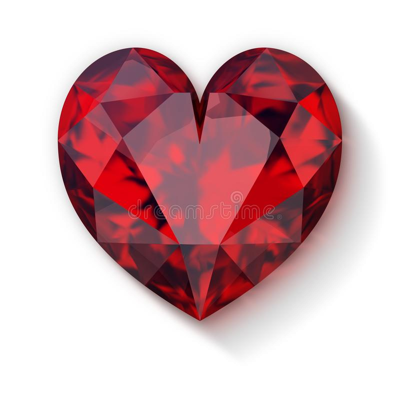 Rubinowy serce ilustracji