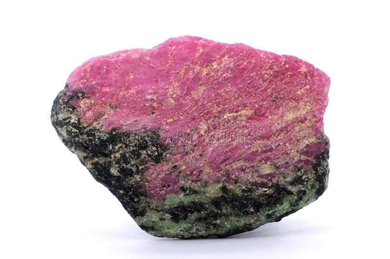 Rubinowy zoizytu kamień fotografia stock