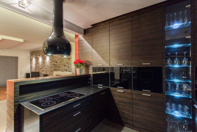 Rubinu dom - Brown kuchnia zdjęcia stock