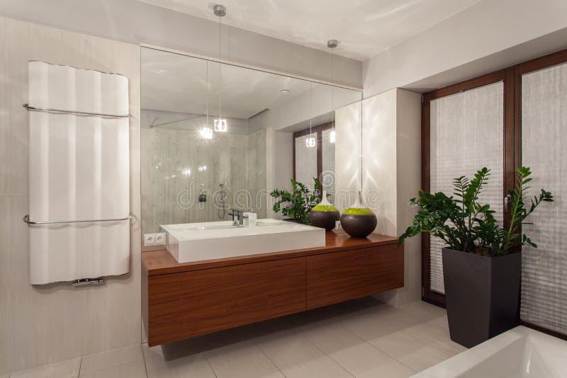 Rubinu dom - współczesna łazienka zdjęcia stock