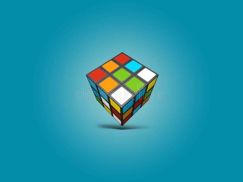 Rubix sześcianu ilustraci tło obraz royalty free