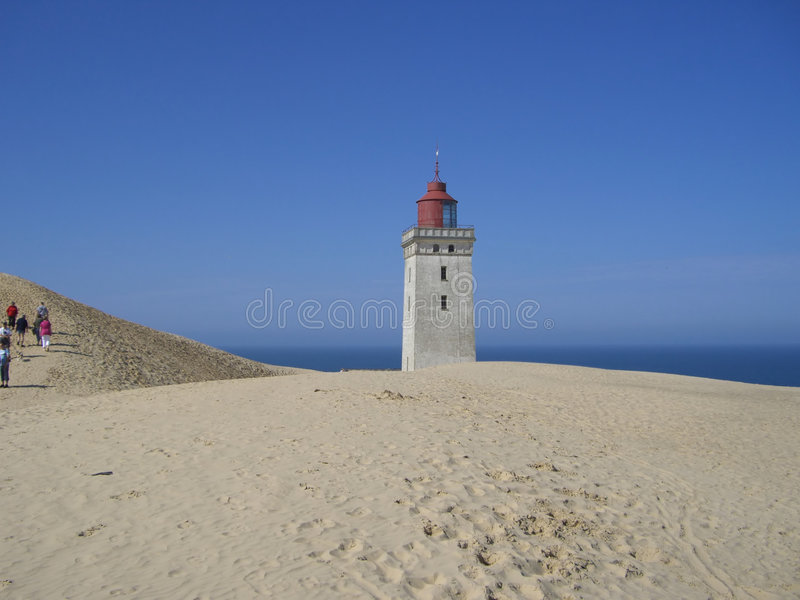 Download Rubjerg Knude Lighthouse stock photo. Image of blue, deserted - 3805570