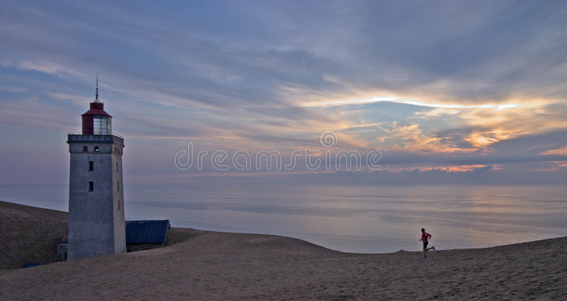 The Rubjerg Light-house stock photos