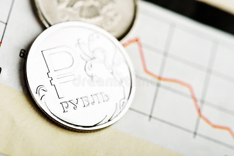 Rubla wekslowy tempo zdjęcie stock