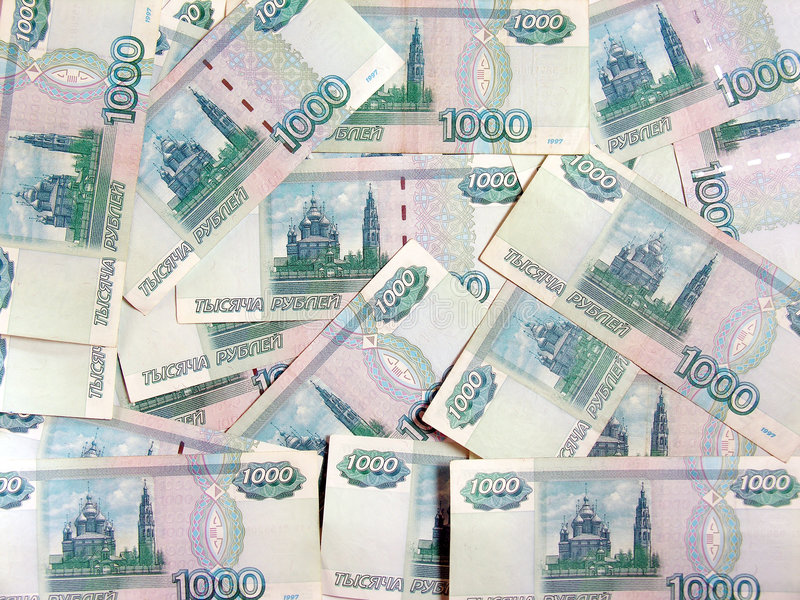 Rubles. Background stock photos