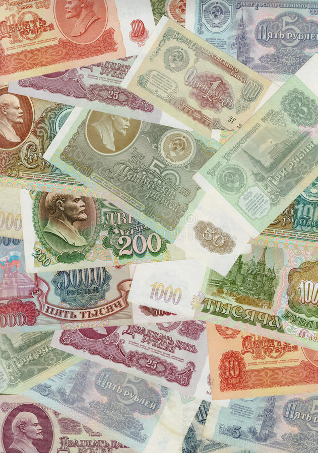 Rubles, Old Russian money, USSR royalty free stock images
