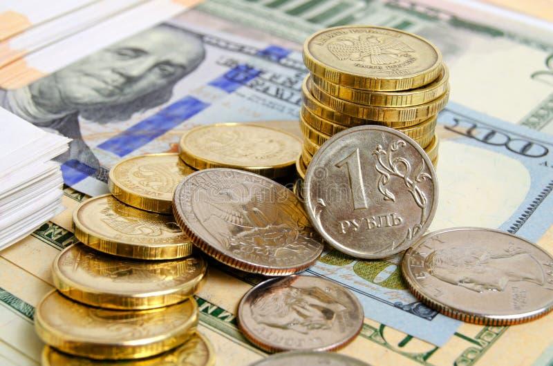 Rublo-dólar imagen de archivo