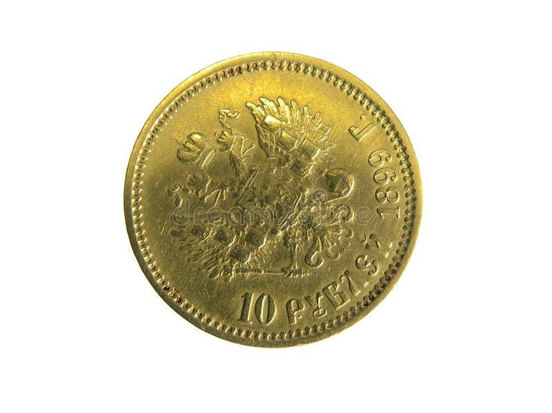 Rublos de oro imágenes de archivo libres de regalías