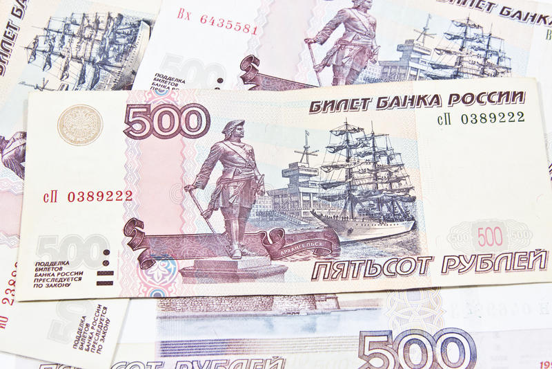 Rublos de russo fotos de stock
