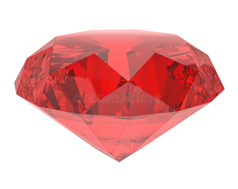 Ruby. On a white background vector illustration