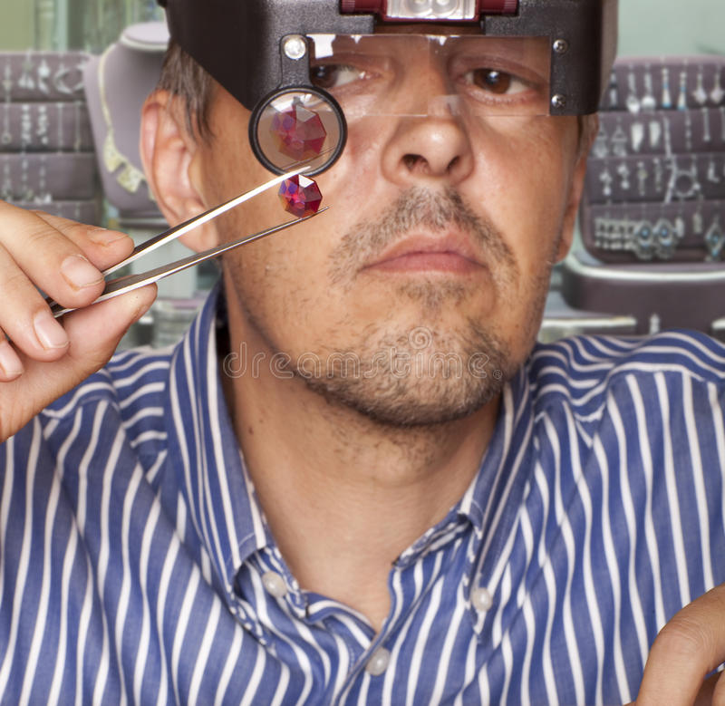 Download Ruby stock image. Image of magnifying, occupation, inspect - 25987427