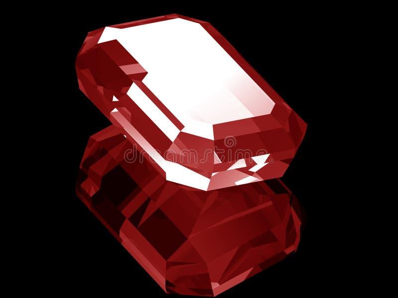 ruby 3d royaltyfri illustrationer