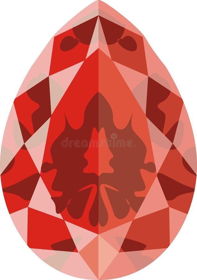 Ruby. Art illustration; an stylized ruby stock illustration