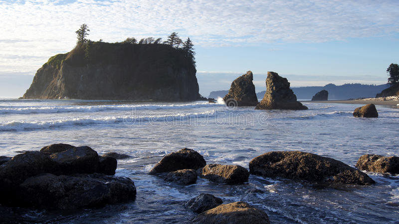 Ruby Beach, Olympisch Nationaal Park, Washington royalty-vrije stock fotografie