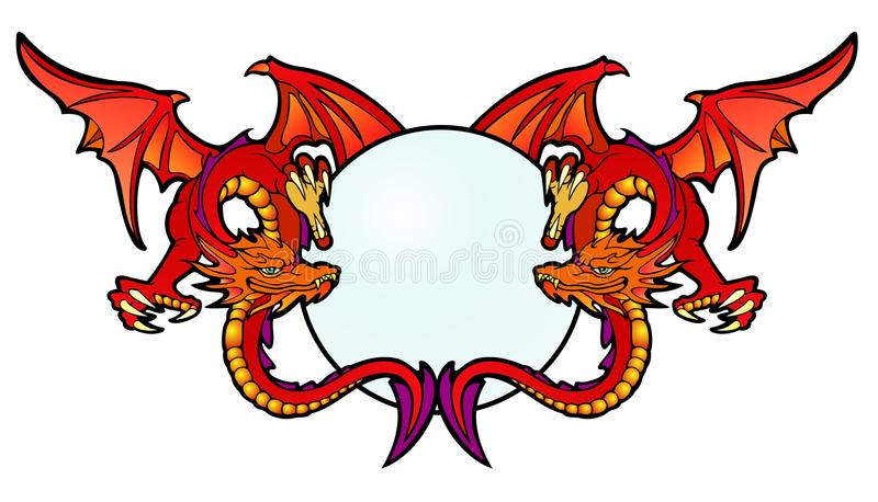 Ruby Dragons vector illustratie