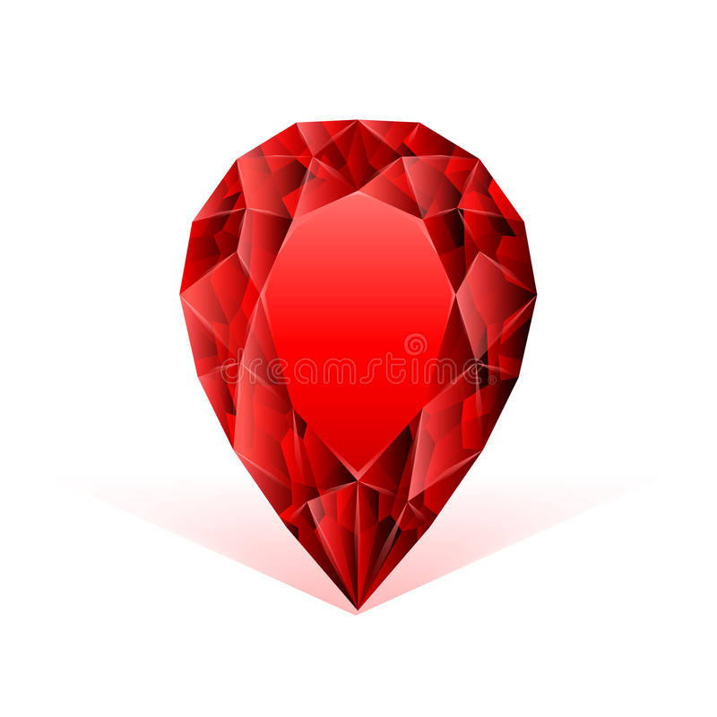 Ruby face against white background. Beautiful ruby face against white background vector illustration