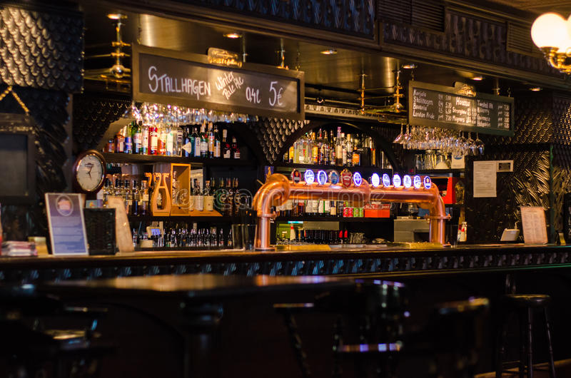 Traditional irish beer pub in Tampere, Finland royalty free stock photography