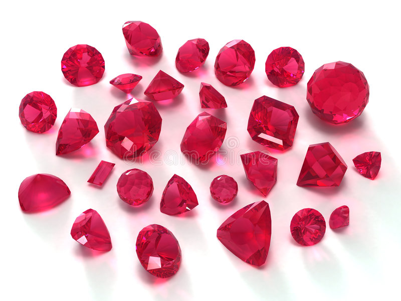 Ruby gems stock illustration