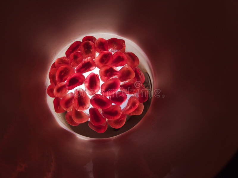 Ruby grains of a pomegranate fruit