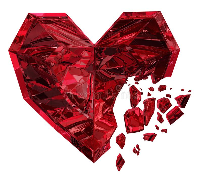 Ruby Heart Break ilustração stock