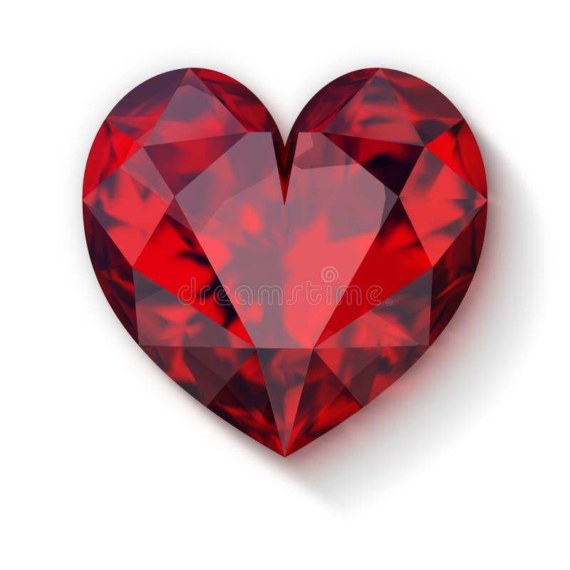 Ruby heart stock illustration