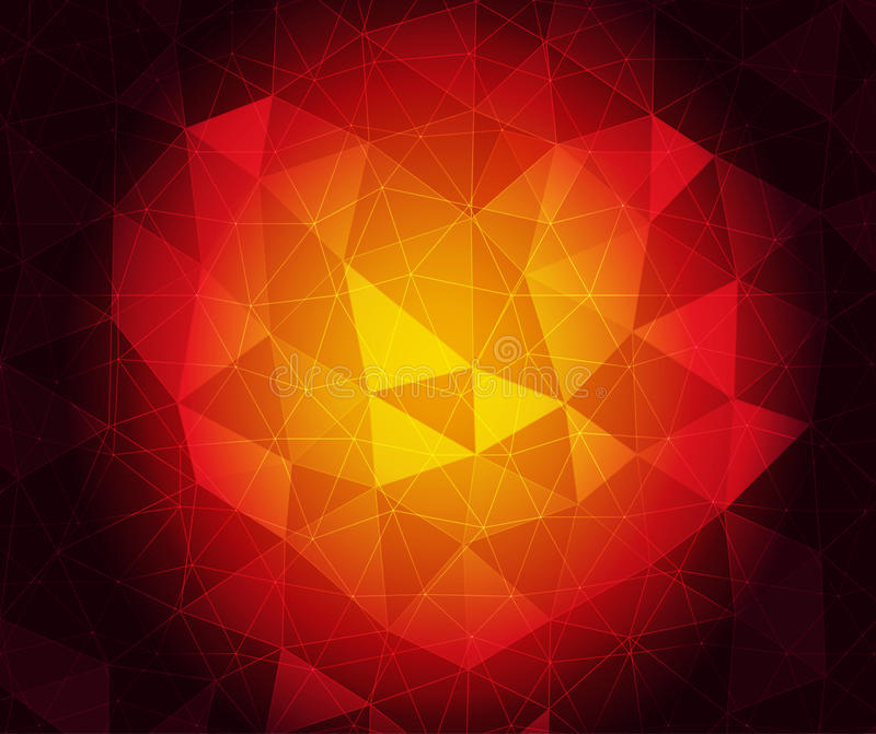 Ruby heart. Vector abstract ruby triangulated background in eps 10 vector illustration