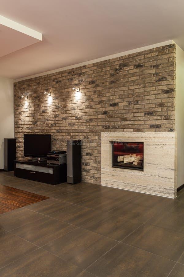 Ruby house - Modern living room stock photos