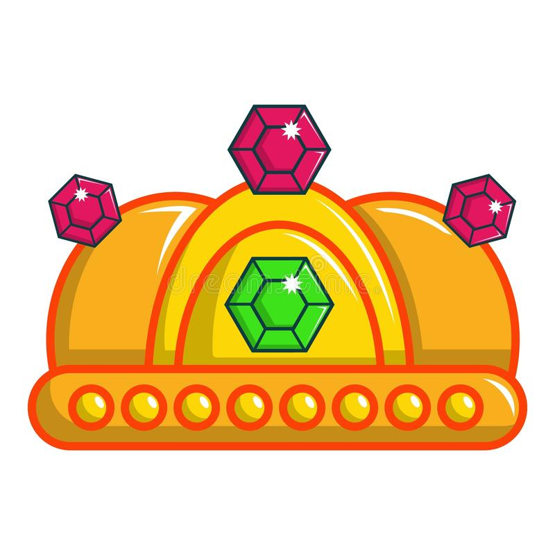 Ruby imperial crown icon, cartoon style. Ruby imperial crown icon. Cartoon illustration of ruby imperial crown vector icon for web design royalty free illustration