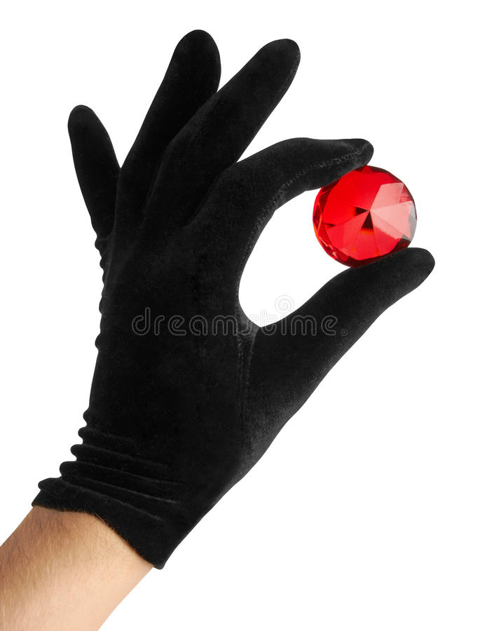 Download Ruby jewel in hand stock photo. Image of engagement, crystal - 19354962