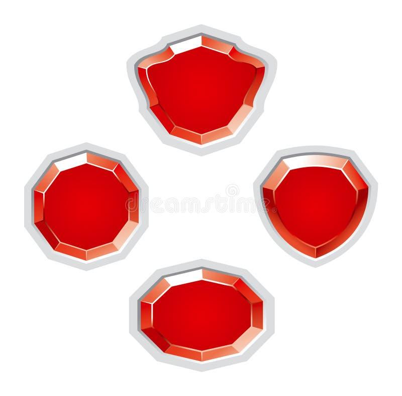 Ruby jewellery stock image