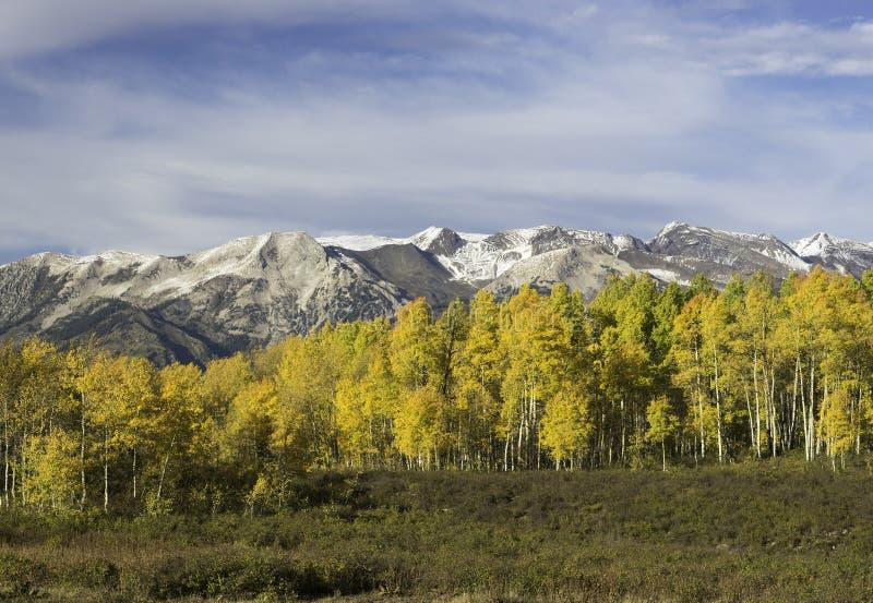 Ruby Mountain Range door Kebler Pass Colorado royalty-vrije stock foto's