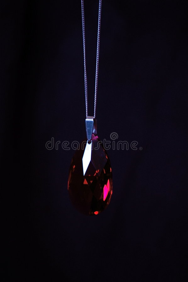 Download A Ruby on a Pendant stock image. Image of romance, accessory - 6812831