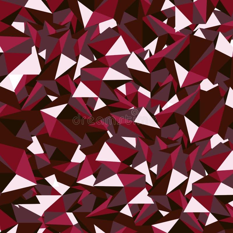 Ruby polygon. Ruby Red Polygon Vector Illustration royalty free illustration