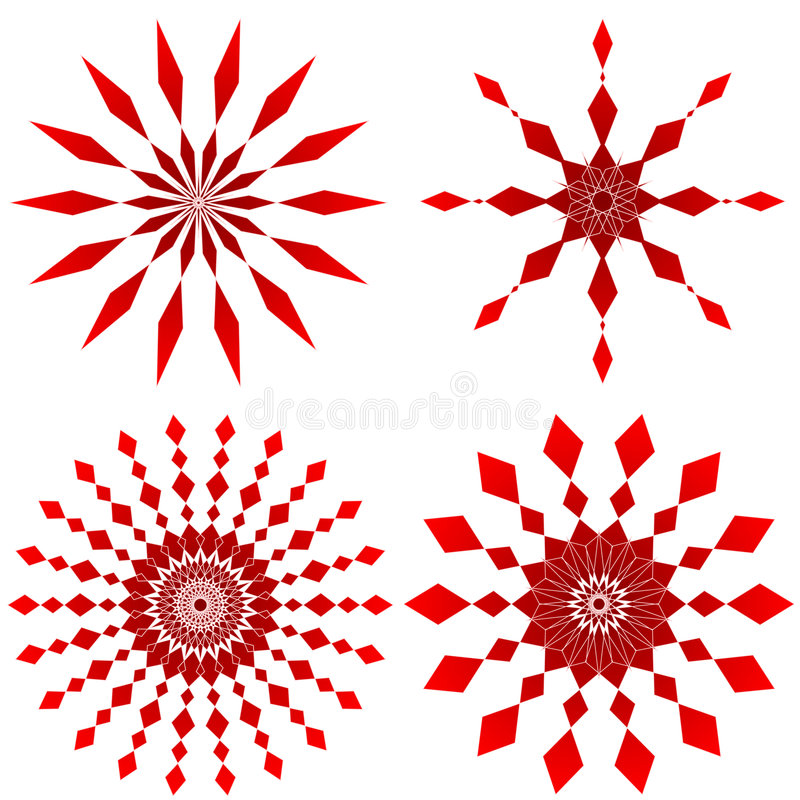 Ruby red. Four ruby red design patterns - VECTOR stock illustration
