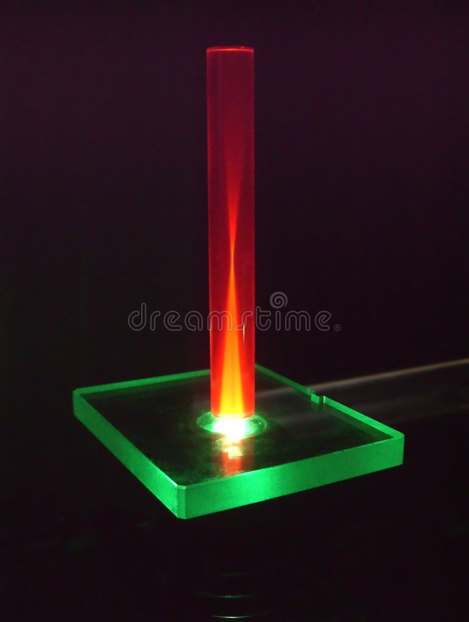 Ruby rod under laser beam royalty free stock images