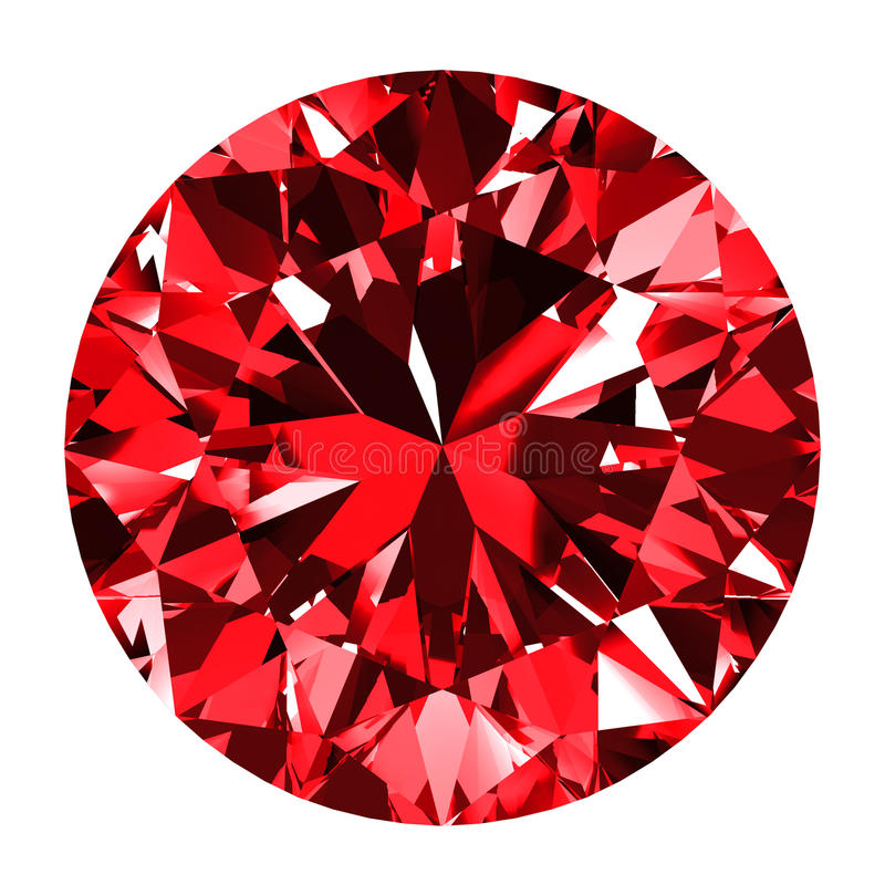 Ruby Round Over White Background ilustração royalty free