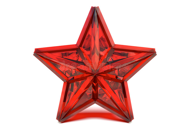 Ruby star vector illustration