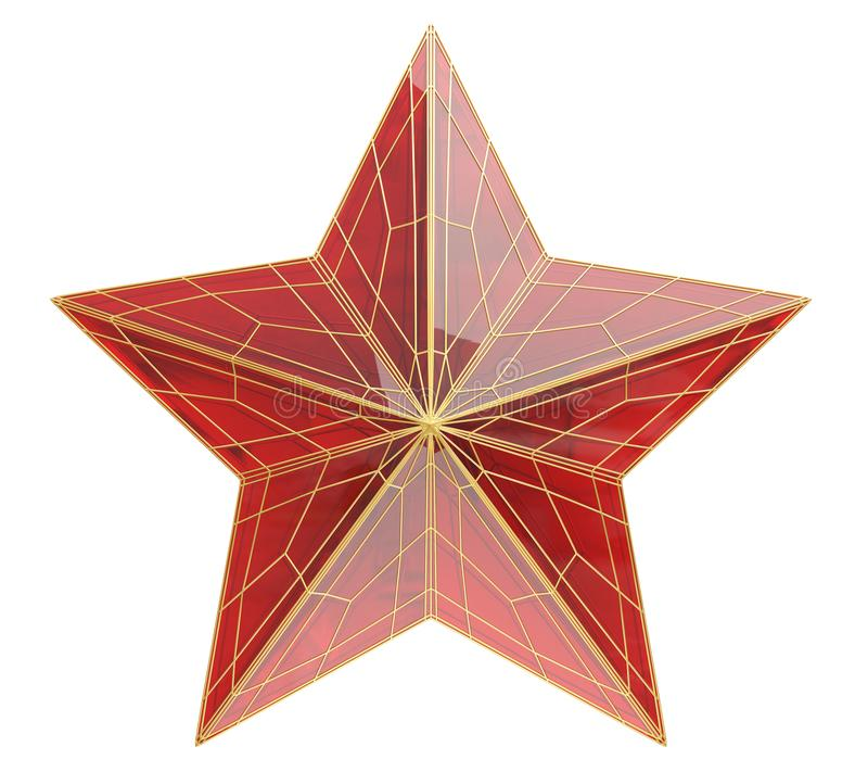 Ruby star on white vector illustration