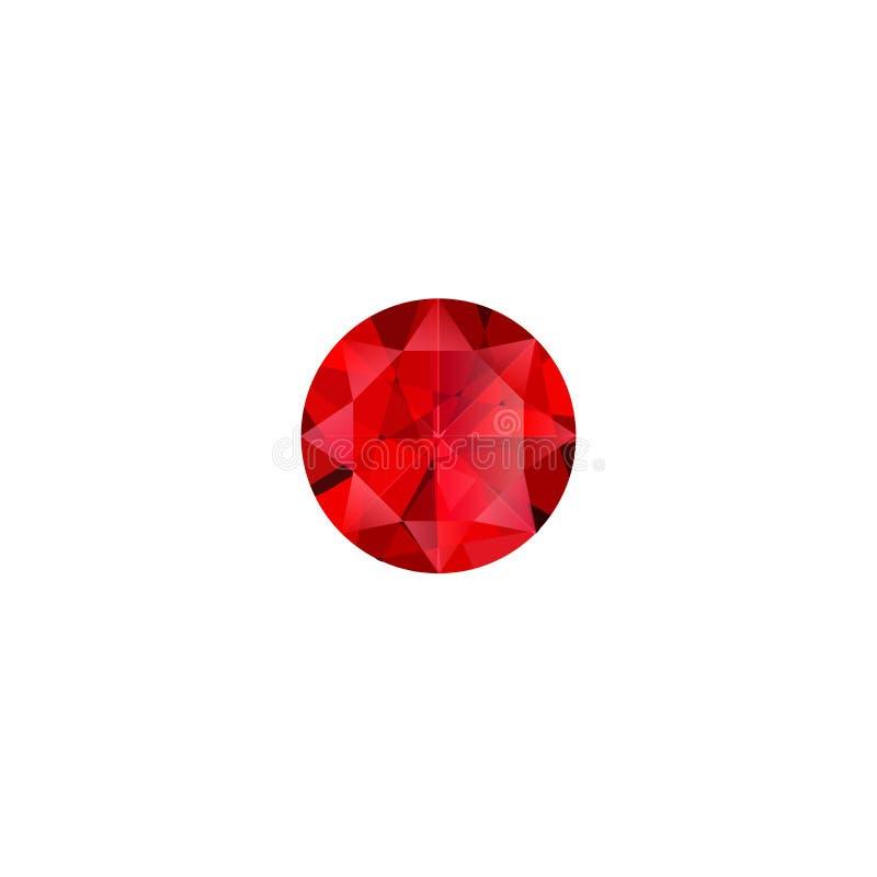 Ruby stone luxury jewel vector isolated illustration stock illustration