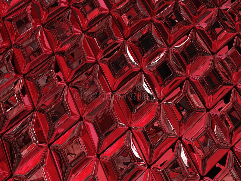Ruby Surface. Ruby jewel surface luxury 3d illustration, horizontal, texture background vector illustration