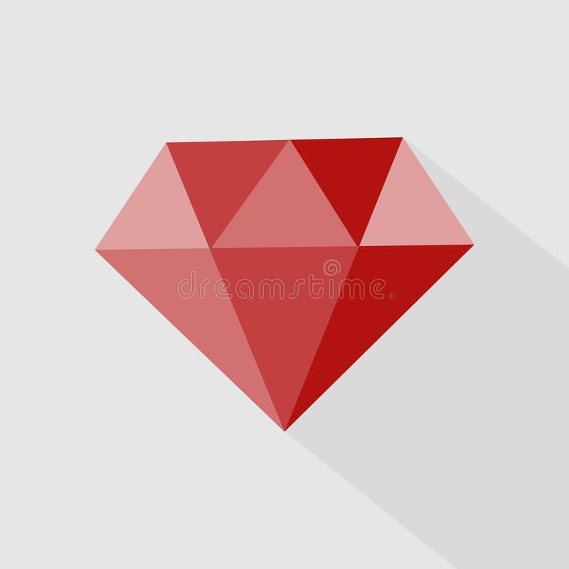 Ruby vector icon. Icon gemstone red ruby. Layers grouped for easy editing illustration. For your design stock illustration