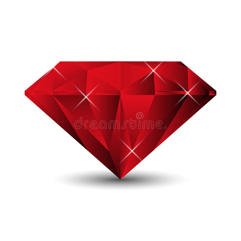 Ruby on a white background stock illustration