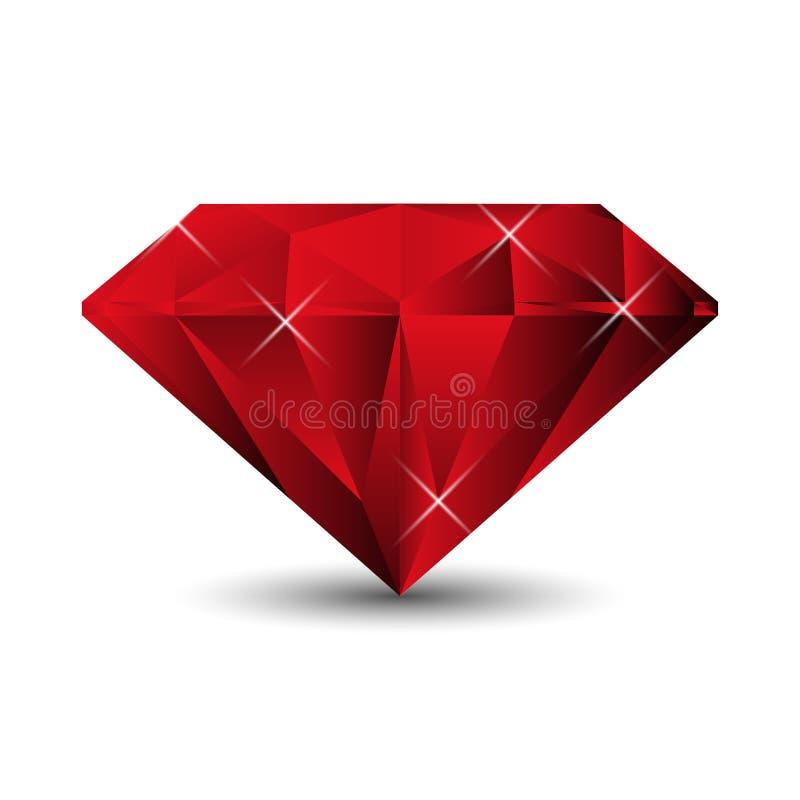Ruby on a white background. Vector Illustration stock illustration
