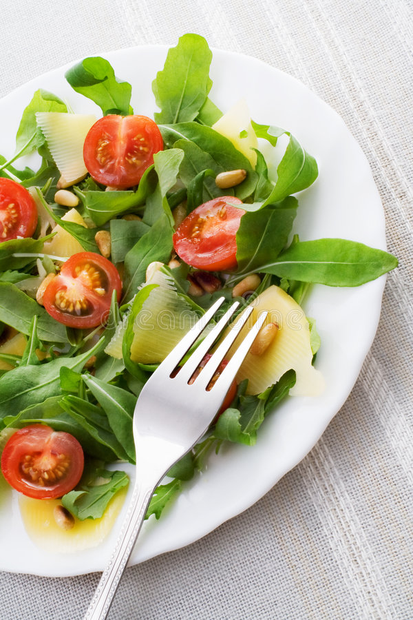 Ruccola salad royalty free stock photo