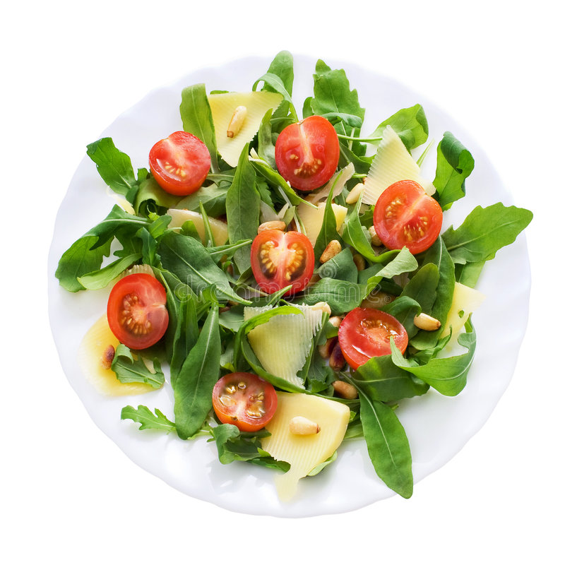 Free Ruccola Salad Plate Stock Image - 6956801